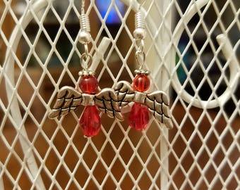 Red Angel Earrings
