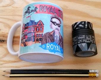 Royal Tenenbaums Mug, Wes Anderson mug, Royal and Pagoda mug,  movie mug