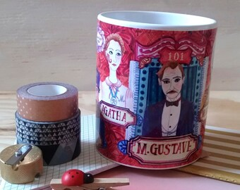 The Grand Budapest Hotel Mug / Wes Anderson fan / fun gift for boyfriends/bestfriend birthday/statement mug/ unique coffee mug/Ralph Fiennes