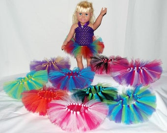 """Party Pack of 10 Create Your Own Doll Tutus - Fits 18"""" Dolls, 15"""" Dolls, and Baby Dolls"""