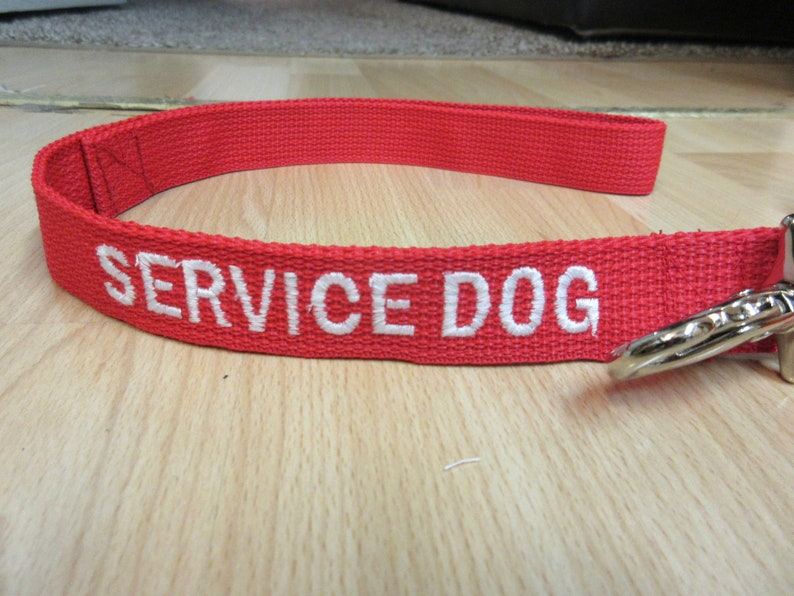Many colors available Service Dog Collar and Leash Set Custom Made Embroidered Collar and Leash with SERVICE DOG Embroidered