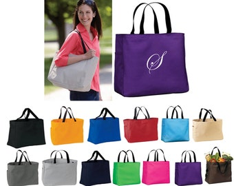 Personalized Bride Maids Gifts, Tote Bag, Monogrammed Tote Bag,Tote Bag with Initial, Tote Bag with Monogram