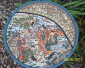 One of a kind hand made Mosaic Asian style table