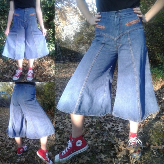 Organically Grown Vintage Jeans Gauchos Vtg 9