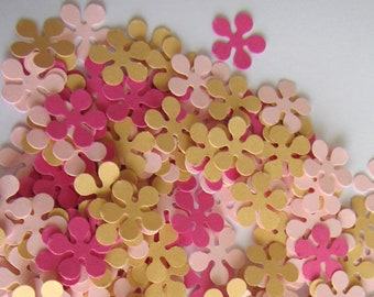 Paper flowers 200 small paper flowers small die cuts paper paper flowers 200 small paper flowers small die cuts paper flower punches scrapbooking wedding confetti party confetti baby shower mightylinksfo