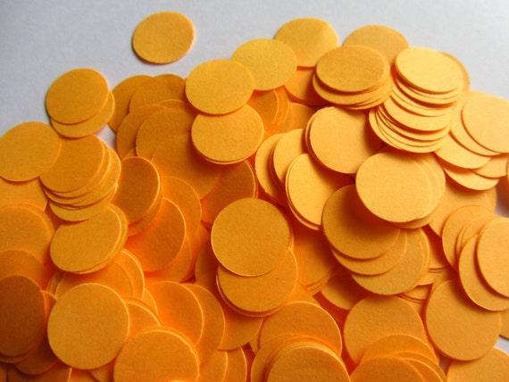 Decorazioni Matrimonio Arancione : Carta di neon arancione coriandoli matrimonio coriandoli etsy