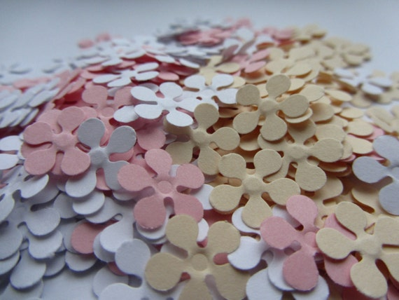 Paper flowers 200 small paper flowers small die cuts paper etsy image 0 mightylinksfo