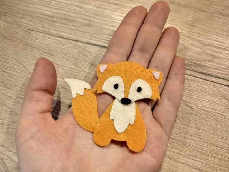 die cut felt fox felt animals felt applique felt fox applique craft sew on Felt Animal Shapes orange fox Die Cut Animal Embellishment foxy