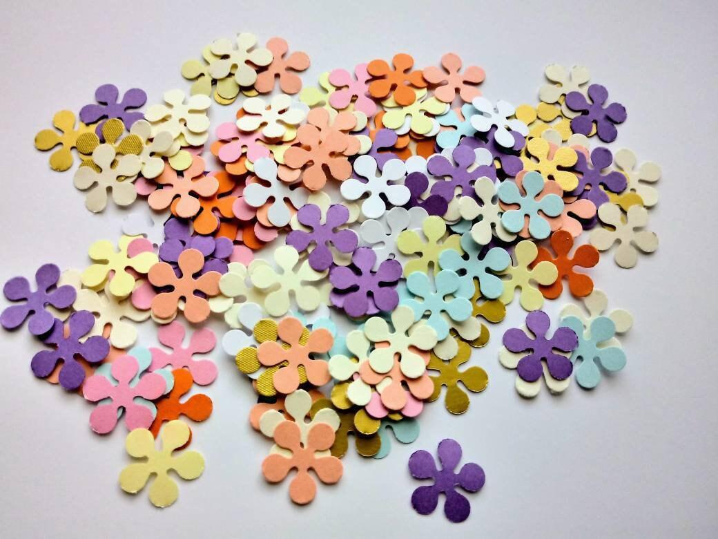 Paper Flowers 200 Die Cut Flowers Die Cuts Paper Flower Etsy