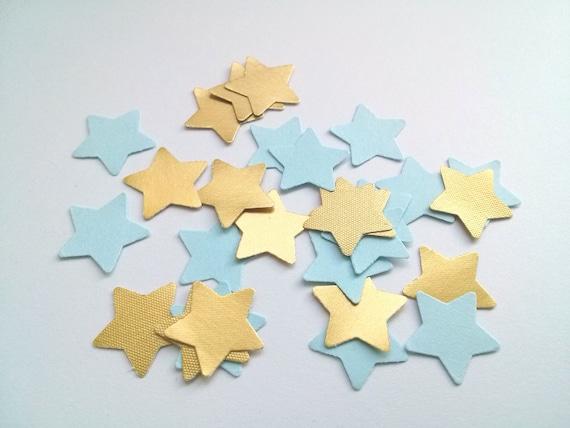 Gold And Blue Wedding Confetti Stars Wedding Star Confetti Etsy