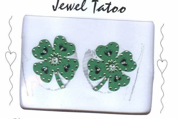 Crystal breast Covers Pasties 2019 Shamrock Clover leaf with swarovski crystals and beads  by Definitions original