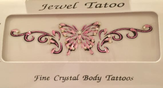 Japan influenced vajazzle california tramp stamps sexy body decor embeded Swarovski stones and fine beads