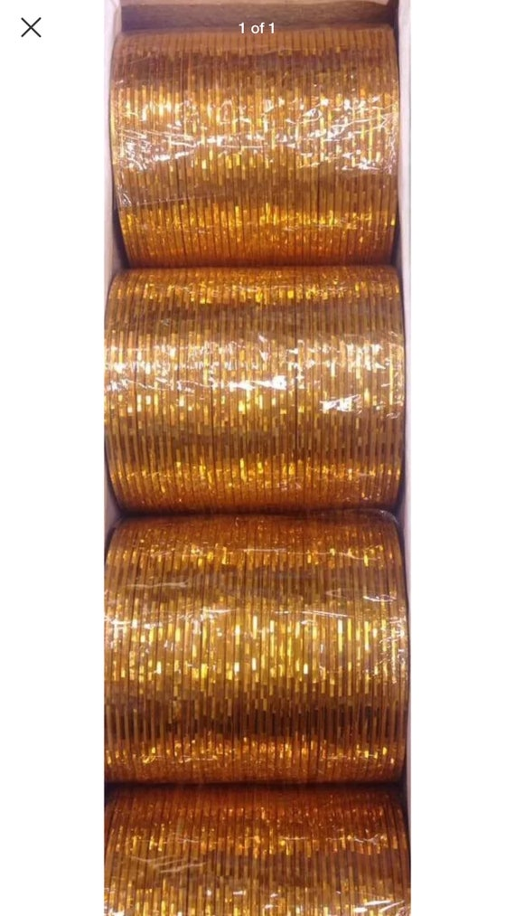 Gold bangles 144 ea shiny and glitter