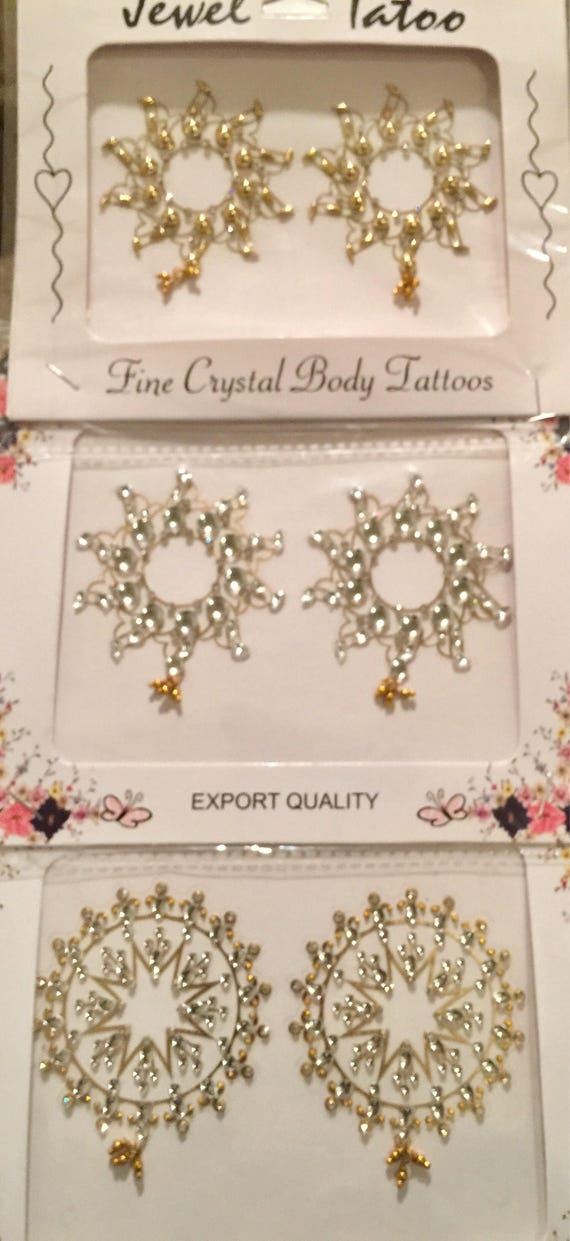 Holiday Deal crystal nipple tattoos till they last, very limited quantity , all three for 25 , free domestic freight USA