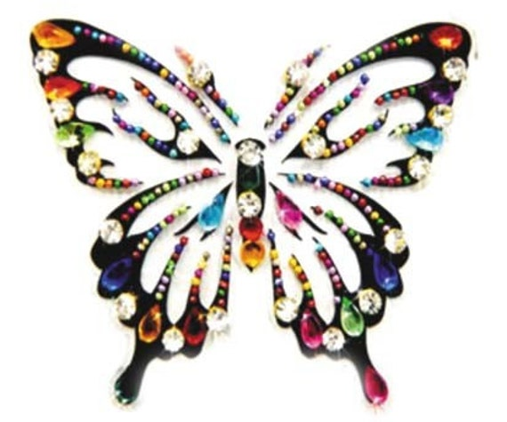 Japan designed body butterflies cool line by Definitions approx.4 inch big butterflies colors mardigras