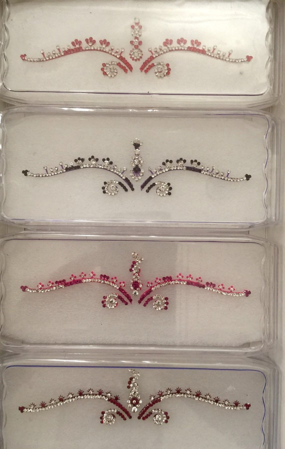 Bridal bindis swarovski stones exclusive couture boxed by Definitions new 2015