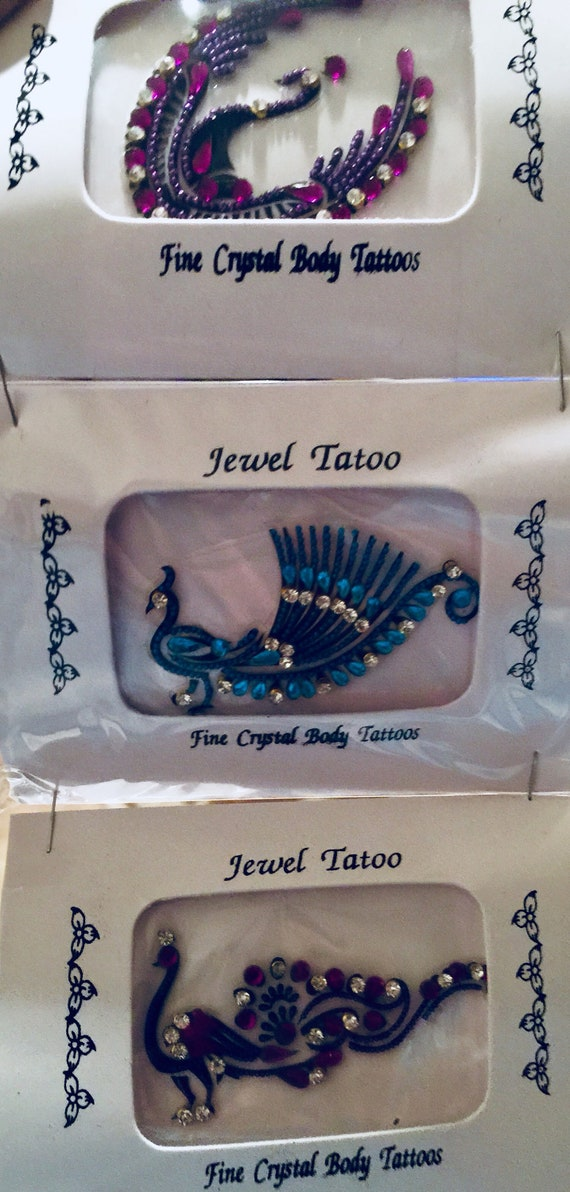 Triple pack Tattoos aelf adhesive reusable, choose from variations free domestic freight super sale, all  made with fine beads and swarovski