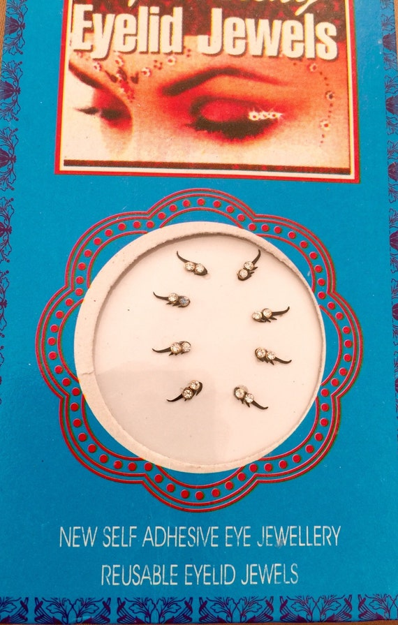Mascara eye swarovski Stones face decor, original by Definitions.range better Bindis, self adhesive, Reusable