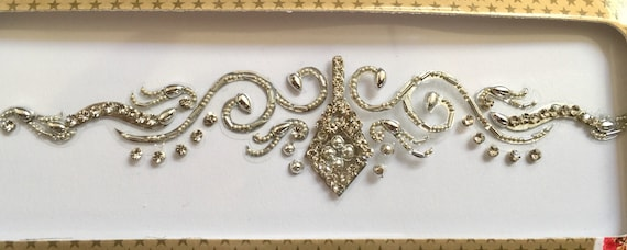 Gold or Silver Bridal Tikkas use on forehead as bindis or arm Bands as  bridal band  Swarovski stones back tramp stamps or belly vajazzle