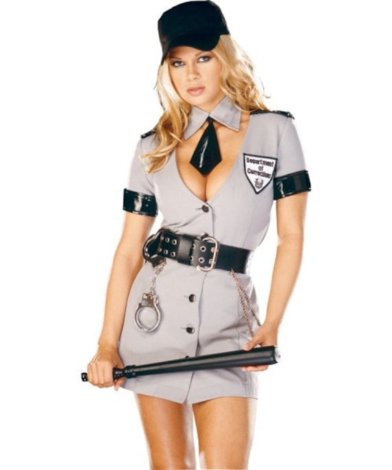 Dreamgirl's sexy corrections officer S and M police costume rate
