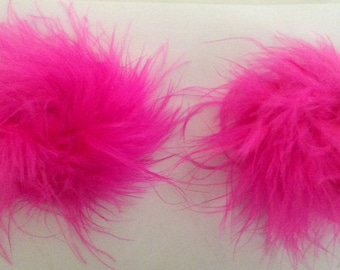 sexy touch of  fur Pasties fuscia Burlesque Hollywood look Celebrity