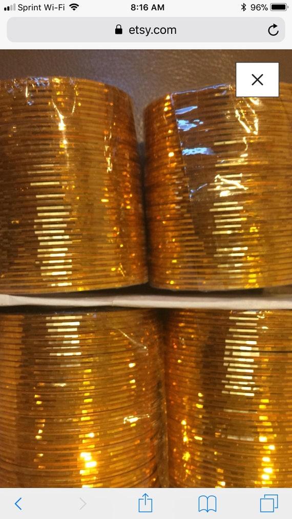 Bangles gold 72 ea shiny and glitter