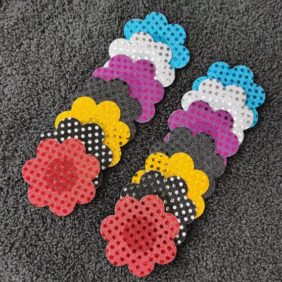 Sexy Rose floral nipple covers designed by Roger Rich 5 hot colors pick  2 pasties bundled glitter glitz glamor, polka inserts