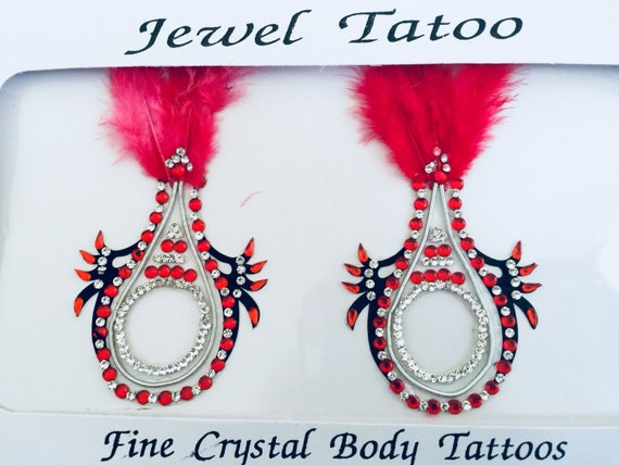 Faux Feather Non piercing nipple crystals ,new for 2019, Ready to ship, swarovski stones embeded with fine beads YOO95 the O look