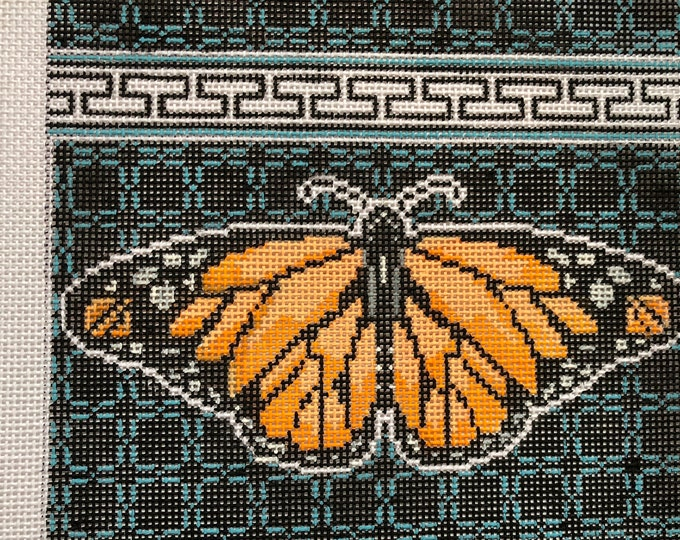 Monarch Needlepoint Clutch Canvas