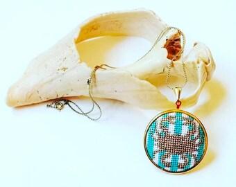 DIY Needlepoint Jewelry Kits: Crab Pendant