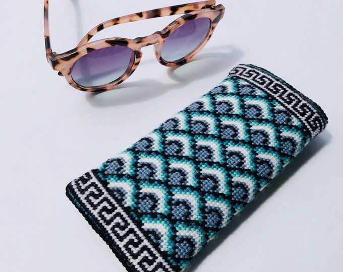 Fishscales Eyeglass Case Needlepoint Kit with Stitch Painted Canvas