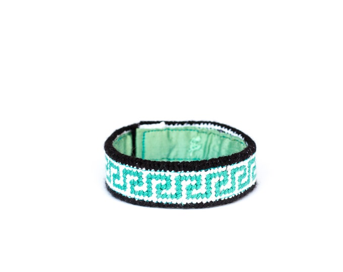 SALE!! DIY Needlepoint Skinny Cuff Kit in Greek Key