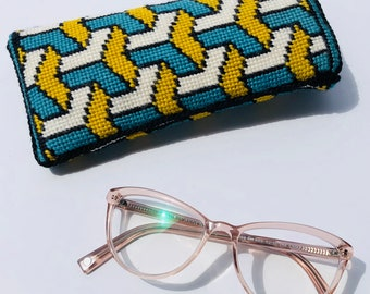 Cascade Eyeglass Case Needlepoint Kit with Stitch Painted Canvas