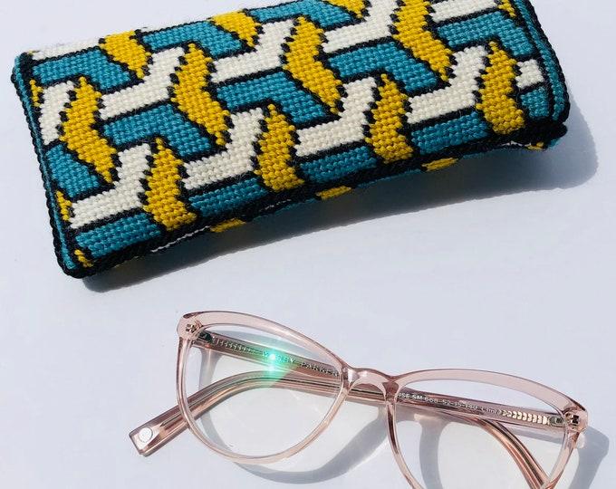Cascade Eyeglass Case Needlepoint Kit with Stitch Painted Canvas