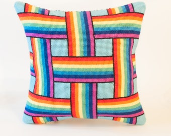 Rainbow Weave Needlepoint Kit