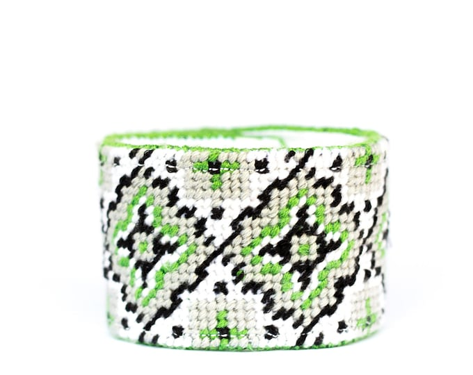 SALE!! DIY Needlepoint Cuff Kit in Medallion