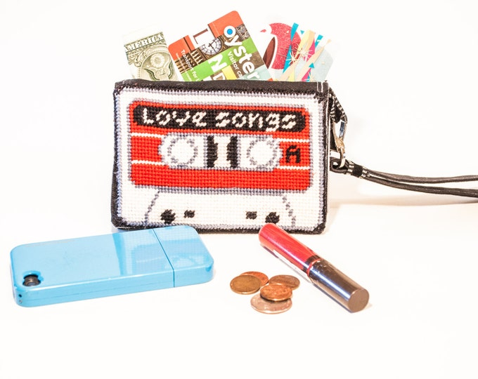 Cassette Needlepoint Kit with Stitch Painted Canvas