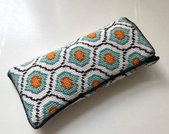 Ogee  Eyeglass Case Needlepoint Kit with Stitch Painted Canvas