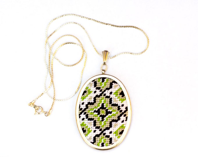 SALE!! DIY Needlepoint Jewelry Kits: Medallion Pendant