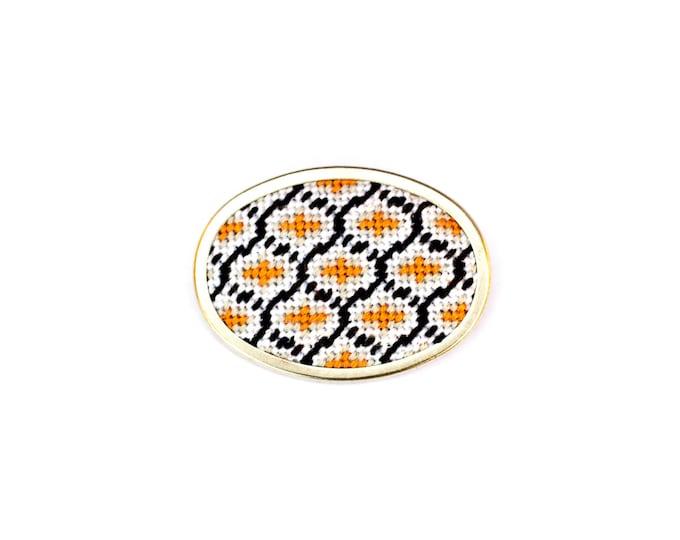 Sale! DIY Needlepoint Jewelry Kits: Ogee Pin