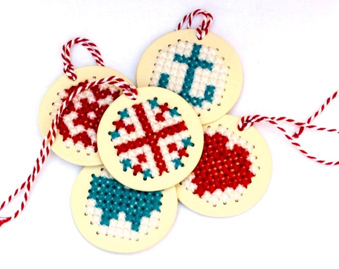 Handmade Stitchable Porcelain Ornament
