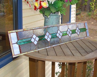 Custom Stained Glass Panel - Victorian in Nature