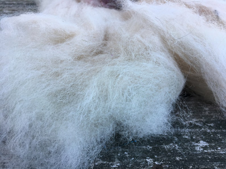 9oz alpaca Art batt corriedale wool and mohair for spinning or felting,