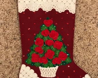 Handmade Christmas Tree Stocking