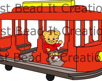 9f735dd4c7 Daniel Tiger Trolley Inspired SVG Cut File