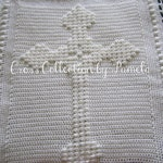 "Crochet Celtic Cross Blanket ePattern, PDF ePattern, 32"" x 26"" (81 cm x 66 cm) approximately"