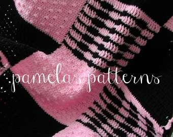 Bonnie Sax Granny Square Afghan, Hidden Pockets Blanket for your Tween