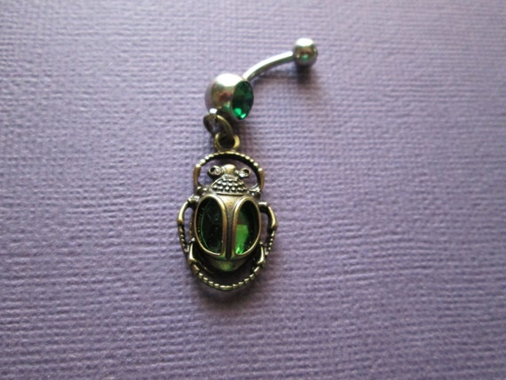 ancient egyptian scarab beetle belly button rings body etsy