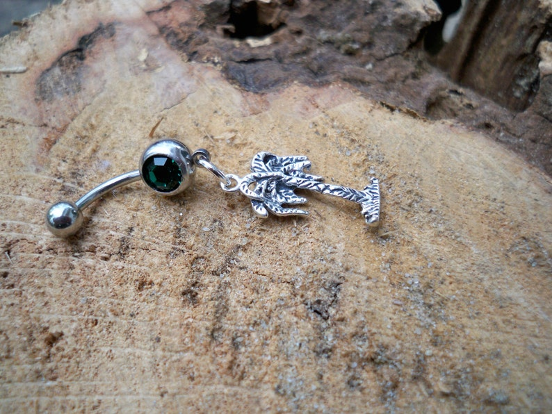 Palm Tree Belly Button Ring Body Jewelry