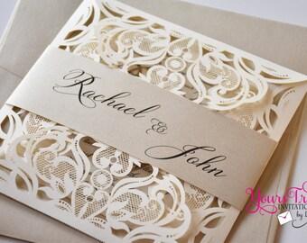 Laser Cut Wedding Invitation Etsy
